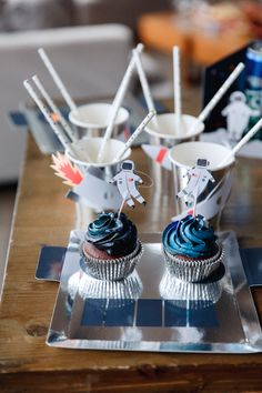 Birthday Party Ideas for Kids Costume and Imaginative Playwear for Kids- Lovelane Designs August Birthday, Boy Birthday Parties, Baby Birthday, Birthday Ideas, Space Cupcakes, Moon Party, Space Party, Space Theme, Food Themes