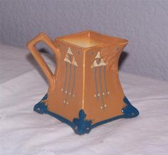 Roseville Art Pottery Futura Pitcher/Creamer ~Art Deco Pattern~