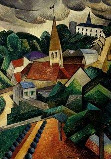 Landscape near Hardricourt, Auguste Herbin (1882 - 1960)