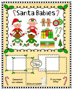 Just added! Santa Babies - Clip art with frames. $ http://www.teacherspayteachers.com/Product/Clip-Art-Santa-Babies-1018445