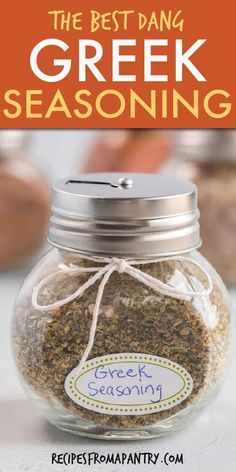 This homemade Greek Seasoning Recipe will become your new favorite pantry staple. With just a few ingredients and 5 minutes you can easily make this greek spice blend! Perfect for adding tons of flav Homemade Spice Blends, Homemade Spices, Homemade Seasonings, Spice Mixes, Homemade Seasoned Salt, Mediterranean Seasoning, Mediterranean Spices, Gyro Seasoning, Seasoning Mixes