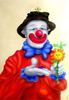 CLOWNS Clown Pics, Clown Images, Le Clown, Circus Clown, Pierrot, Scary Clowns, Creepy, Funny Clowns, Clown Paintings