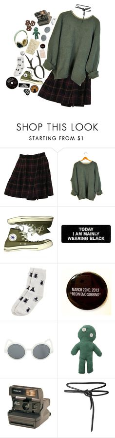 """self aware ."" by jackadis ❤ liked on Polyvore featuring Rena Rowan, Topshop, Converse, Monki, Hahn, Too Late, Pull&Bear, Leka and Hipstapatch"