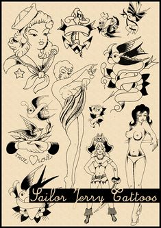 Sailor Jerry Tattoo Brushes by ~HemanHunters on deviantART