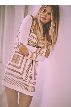 Mara Hoffman Embellished Shift Dress at Free People Clothing Boutique