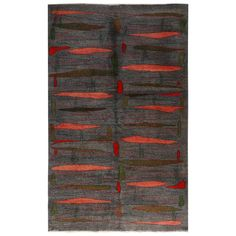 For Sale on 1stDibs - Hand knotted in Turkey originating between 1960-1970, this vintage midcentury runner is the latest to join our midcentury Pasha collection, celebrating Wool Area Rugs, Wool Rug, Green Accents, Indoor Outdoor Area Rugs, Kilim Rugs, Rugs On Carpet, Knots, Mid Century, Geometry