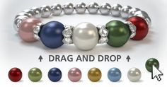 create your own pink and green pearl necklace. (seen on AKA buy, sell, trade)  use http://www.pearlsbylaurel.com/mothers-necklace?a=G0I7F&code=Z4DEY to order