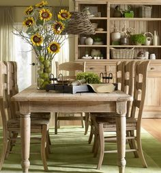 """Antique Farmhouse Dining Table - Design #1 - Features 2 Drawers - Handcrafted from premium mahogany. - Shown in Driftwood with Antiquing finish. - Item # BR-44042 - Available in 2 sizes: 30""""H x 96""""L x 45""""W & 30""""H x 72""""L x 45""""W - Matching chairs also available. - 50+ color & art options."""