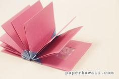 Origami Blizzard Book Tutorial Video Paper Kawaii video Origami Technique--Accordian Folding