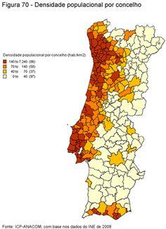 a densidade populacional em Portugal, por conselhos - Yahoo Image Search Results