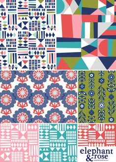 Sunny print collection by Elephant & Rose