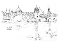 Discover recipes, home ideas, style inspiration and other ideas to try. Prague Map, Prague Food, Prague Travel, Prague Castle, Prague Czech, City Sketch, House Sketch, Geometric Tattoo Arm, Abstract Tattoos