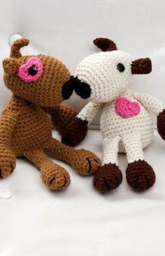 casal de dogs em crochê