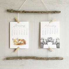 Hey, I found this really awesome Etsy listing at https://www.etsy.com/nz/listing/459629640/2017-calendar-animal-calendar-desk