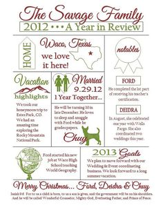 Holiday Infographic // Christmas Letter // #infographic #holidays ...