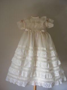 Andalucia: handmade christening gown with bonnet by ExquisiteDesignRS inDaWanda.com