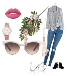 Untitled #9 by ana-almeida-ii on Polyvore featuring polyvore moda style Madewell Topshop New Look L.K.Bennett Larsson & Jennings Oasis Gucci Lime Crime fashion clothing