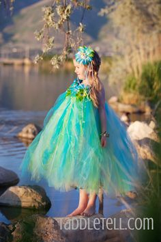 Full flower tutu dress mermaid costume!  www.taddletell.com