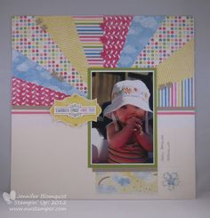Northwest Stamper » Jennifer Blomquist, Stampin' Up! Demonstrator » Scrapbooking Sunday: Sunburst w/ Sunshine & Sprinkles