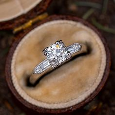 Vintage Engagement Ring Fishtail Head Old Euro Diamond GIA – diamond rings vintage Antique Diamond Rings, Antique Engagement Rings, Vintage Diamond, Solitaire Engagement, Love Ring, Dream Ring, Art Deco Diamond, Black Rings, Vintage Rings