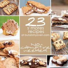 23 gooey S'mores #Recipes at bunsinmyoven.com - no campfire needed!