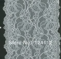 (A26) 100 yards/lot, 18CM (7'') Wide Fancy Ivory, Black, White Nylon Wholesale Elastic Lingerie Nylon Stretch Lace from Reliable Nylon Stretch Lace suppliers on DIY Lace Garden ( Min. Order US$10 ) $129.00