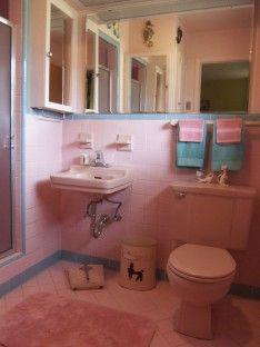 Schön Rosa Badezimmer Dekor, Rosa Geflieste Bäder, Türkis Bad, Bad Vintage, Retro  Badezimmer, Einfaches Badezimmer, 1950 Bad, Modernes Badezimmer, Raum