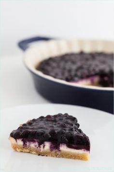 Low Carb Kaesekuchen ohne Zucker mit Blaubeeren
