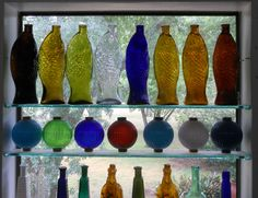 Fish bottles courtesy Peachridge Glass