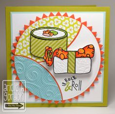 The Alley Way Stamps. Have no idea what this its but i'm pinning because I love the layout and color combo.