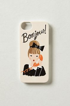 Bonjour iPhone Case by Rifle Paper Co.