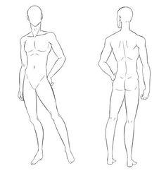modelo croqui masculino - Pesquisa Google