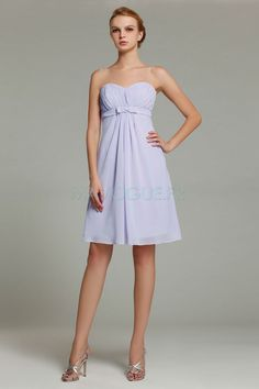 Sweetheart Chiffon A-line Lavender Knee-length Bridesmaid Dress(TD15525)  Knee Length e84591062cab