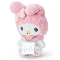 2017 My Melody Plush Doll Deco Desk Calendar Plan Talking Voice Mode Sanrio