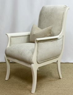 Extremely unique and beautifully updated Antique chair by FSFurnishings on Etsy