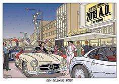 De nieuwjaarskaart van Max Miller-tekenaar IJsbrand Oost - W.B.