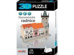 3D Puzzle Staroměstská radnice. Jedná se o velmi jednoduchou formu modelu, který je schopen postavit úplně každý. Kvalitní pružný materiál umožnuje opakovanou stavbu modelu.Díly se spojují pomocí chlopní a otvorů. Materiál je pružný, má tvarovou paměť. Díly po spojení vytvoří kompaktní celek. Nepoužívají se nůžky… 3d Puzzles, Packing, Bag Packaging