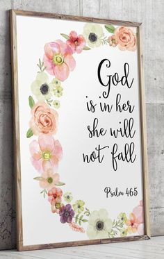 Psalm 46 5 Printable Wall Decor Bible verses God i Psalm 46 5, Scripture Art, Bible Verse Painting, Painting Canvas, Painting Quotes, Bible Verse Canvas, Bible Verse Decor, Bible Verse Signs, Mothers Day Scripture