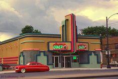 Art Deco Architecture: Frogtown Diner, St. Paul, Minnesota.