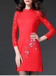 SHARE & Get it FREE | Blossom Print Side Slit Lace Spliced Cheongsam DressFor Fashion Lovers only:80,000+ Items • New Arrivals Daily • Affordable Casual to Chic for Every Occasion Join Sammydress: Get YOUR $50 NOW!