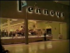 A shot inside the Logan Valley Mall in Altoona, Pennsylvania of the Penney's (JCPenney) mall entrance to the store after and probably sometime around 1965.  From a video about the Logan Valley Mall and its history. www.youtube.com/watch?v=cR3H9RYAFBs