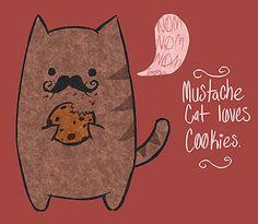 #mustache #cat #illustration
