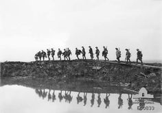 Australian Soldiers on the Western Front. World War One.
