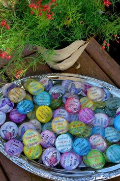 SOUL STONES set of three glass round altered art collage therapy grounding inspirational word support recovery ptsd survivor