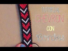 》Tutorial pulsera Chevron con bordes │Macrame《 - YouTube