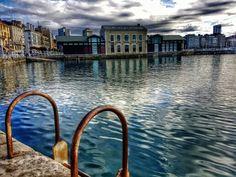 Puerto deportivo Gijon, antigua lonja de pescados