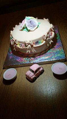 Vintage cake, gift cake
