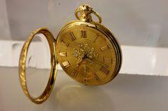 Lot #24: Antique German 14kt Gold Watch, A Lange & Sohne Glashuette 85200