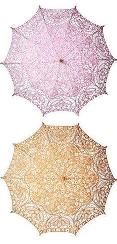 Stylist's tip: Pretty parasols, (like these sorbet toned vintage lace ones from Layla Grace) are perfect wedding props. Luckily, they are also a literal translation of the Louis Vuitton Spring 2012 runway! For an outdoor wedding, have a tin of parasols ready pre-ceremony to help shade the sun, and use them as a fun photobooth prop as well!