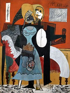 A beautiful oil on canvas painting of The Lovers by Pablo Picasso. Pablo Picasso, Man Ray, Cubist Movement, Fallen Book, Spanish Art, Collage, Georges Braque, Post Impressionism, Buy Art Online